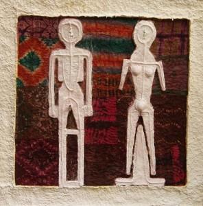 Il Re e la regina - t.m. su carta a mano 90 x 90