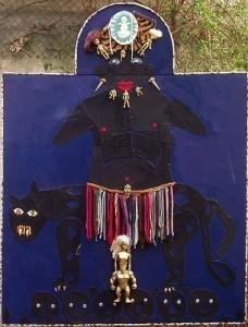 Il trono del Giaguaro - t.m. su tela 100 x 107