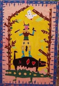 Un Dio bambino - t.m. su tela 99 x 150